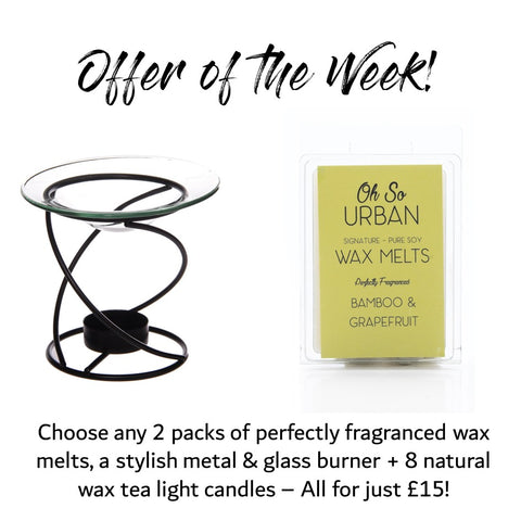 Offer of the Week #1: 2 Melts, Burner & 8 Soy Tea Lights