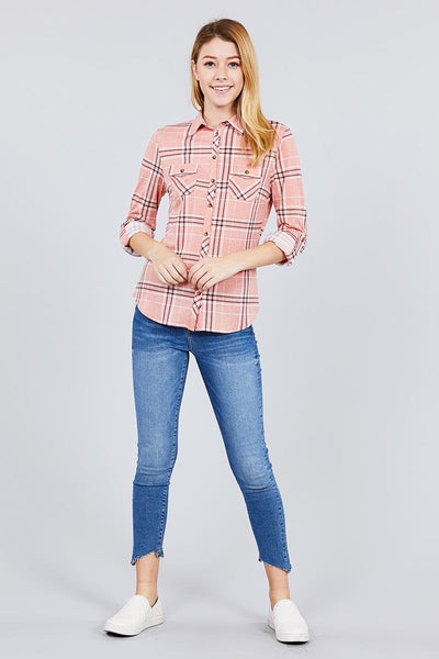 Rad in Plaid Stretch Knit Shirt (more colors)