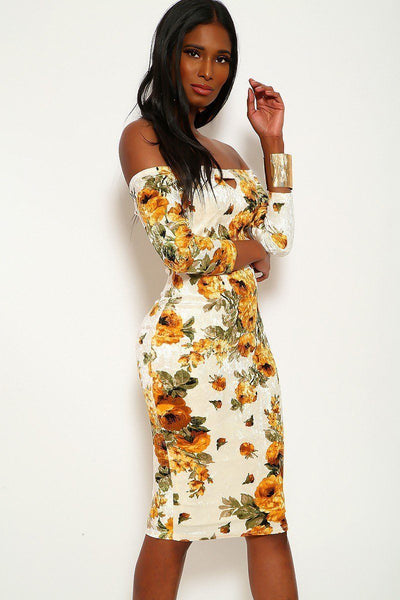 Crushed Velvet Floral Midi Dress