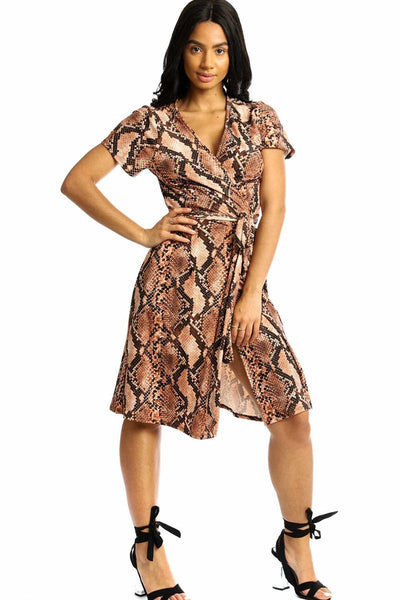 She's An Animal Wrapped Midi Dress (more colors)