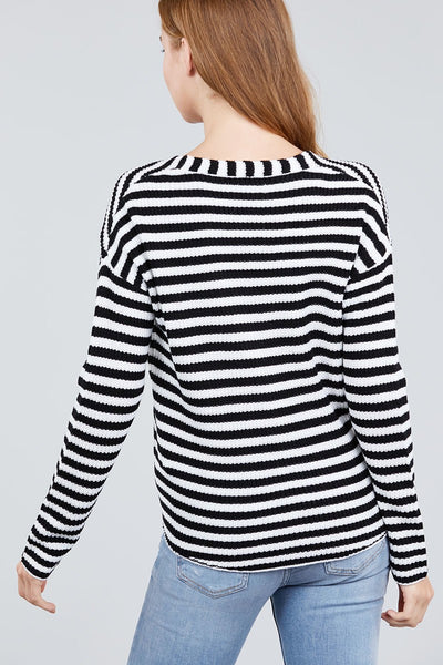 Sassy Sailor Stripe Front Tie Cardigan (more colors)