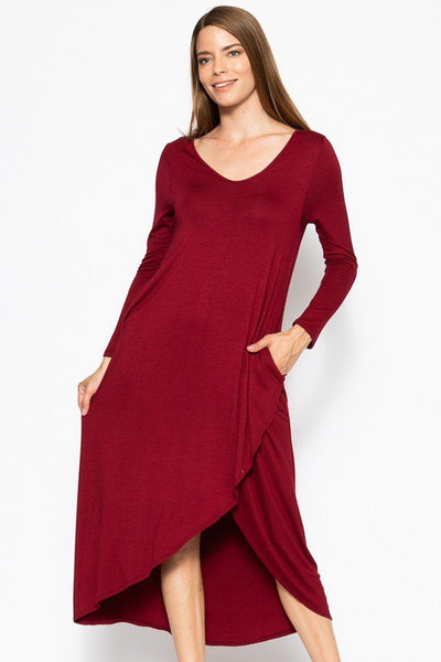 High Low Maxi Dress With Pockets (more colors)
