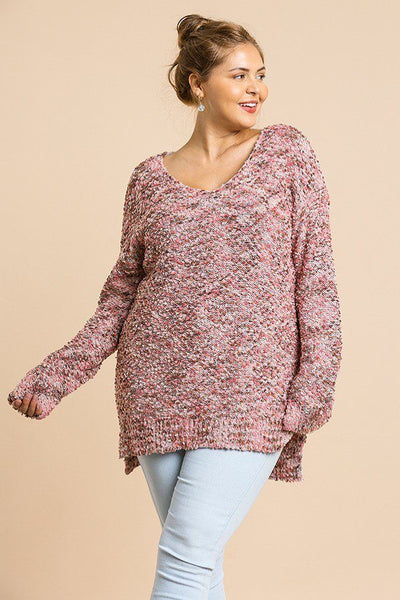 Multicolor V-neck Knit Pullover Sweater (more colors)