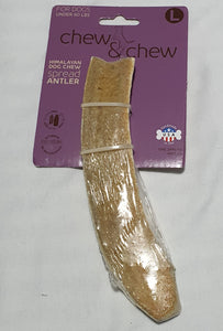 Large Deer Antler Back in stock (for dogs under 60lbs)-toy-WOOFALICIOUS.SG