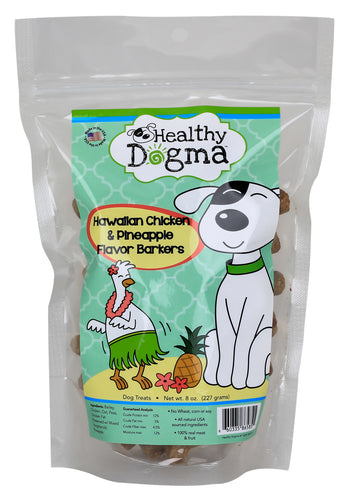 Healthy Dogma Hawaiian Chicken Barkers Natural Treats 16oz Value Pack-Cookie-WOOFALICIOUS.SG