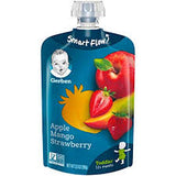 Gerber Fruit PUREED GOODNESS Toddler Pouch (great on LickiMats) 3 different flavors-FOOD-WOOFALICIOUS.SG