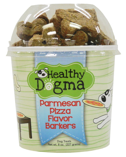 Healthy Dogma Parmesan Pizza Barkers Natural Dog Treats Cup-biscuit-WOOFALICIOUS.SG