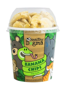Healthy Dogma Blissful Banana Crisps Treats Natural Dog Cup-banana chips-WOOFALICIOUS.SG