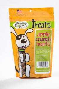 Healthy Dogma Apple Crunch Hearts cookies 6oz Bag-biscuit-WOOFALICIOUS.SG