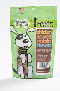 Chicken and Sweet Potato Chewies (soft treats)-WOOFALICIOUS.SG