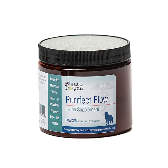 Healthy Dogma Purfect Flow Urinary Tract & Digestion Supplement For Cats 8oz-supplement-WOOFALICIOUS.SG