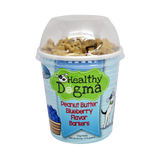 Healthy Dogma Peanut Butter Blueberry Barkers Natural Dog Treats 6.2 oz Cup-biscuit-WOOFALICIOUS.SG