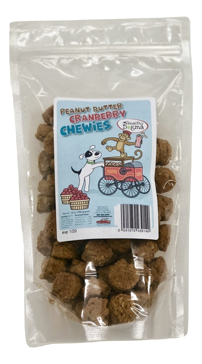 Healthy Dogma Peanut Butter Cranberry Chewies Natural Dog Treats (Popular) Value Pack-Treats-WOOFALICIOUS.SG