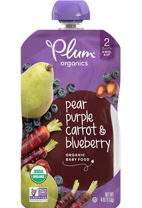 Organic by Plum Baby Food, Pear, Purple Carrot & Blueberry, Perfect for LickiMats-LickiMat-WOOFALICIOUS.SG