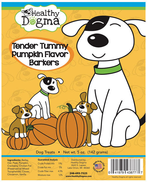 Healthy Dogma Tender Tummy Pumpkin Barkers natural Dog Biscuits (value pack)-biscuit-WOOFALICIOUS.SG