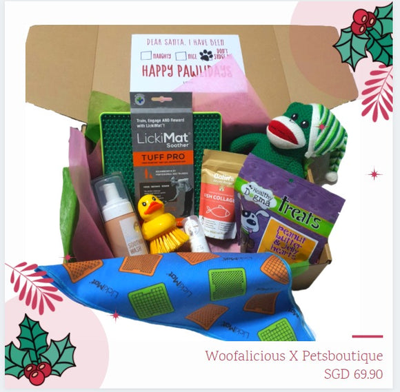 Naughty or Nice Santa Box (Valued at $111.50) now only $69.90 inclusive of Free courier Shipping Limited Quantities-LickiMat-WOOFALICIOUS.SG