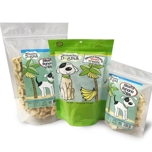 Healthy Dogma Blissful Banana Crisps Natural Dog Treats Value bag-Treats-WOOFALICIOUS.SG