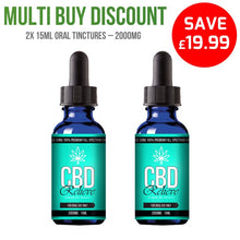Load image into Gallery viewer, MULTI BUY DEAL: 2x 15ml Full Spectrum CBD Oil Tincture's - 2000mg