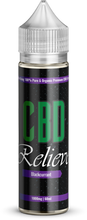 Load image into Gallery viewer, CBD Relieve | 60ml Shortfill E-Liquid - Blackcurrant 1000mg (Nicotine Free)
