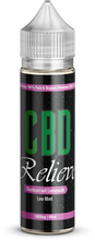 Load image into Gallery viewer, CBD Relieve | 60ml Shortfill E-Liquid - Blackcurrant, Lemonade & Low Mint 1000mg (Nicotine Free)