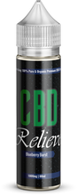 Load image into Gallery viewer, CBD Relieve | 60ml Shortfill E-Liquid - Blueberry Burst 1000mg (Nicotine Free)