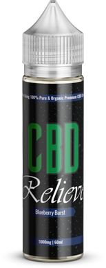 CBD Relieve | 60ml Shortfill E-Liquid - Blueberry Burst 1000mg (Nicotine Free)