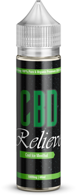 CBD Relieve 60ml Shortfill E-Liquid - Cool Ice Menthol 1000mg (Nicotine Free)