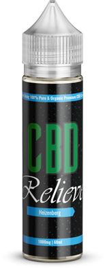 CBD Relieve 60ml Shortfill E-Liquid - Heizenberg 1000mg (Nicotine Free)