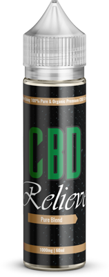 CBD Relieve 60ml Shortfill E-Liquid - Pure Blend 1000mg (Nicotine Free)