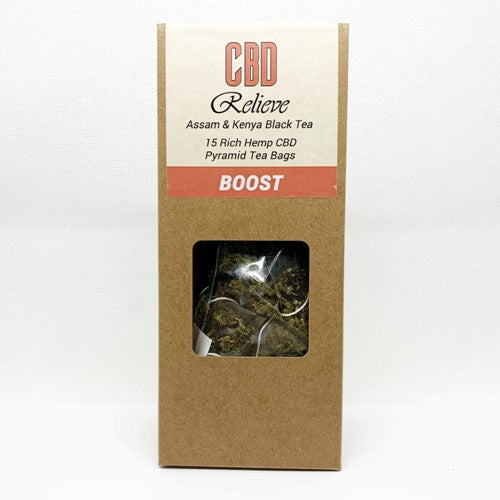 CBD Relieve - Premium Hemp Rich CBD Tea - BOOST
