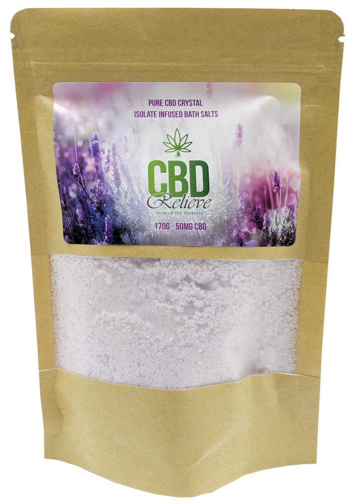 CBD Relieve | 175g Infused Bath Salts - 50mg