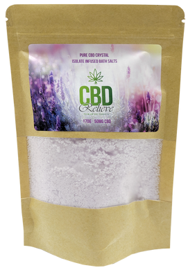 CBD Relieve 175g Infused Bath Salts - 50mg