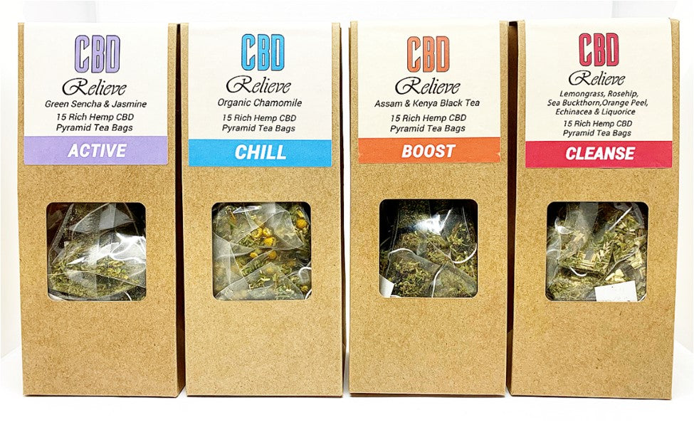 CBD Relieve | Premium Hemp Rich CBD Tea - BOOST
