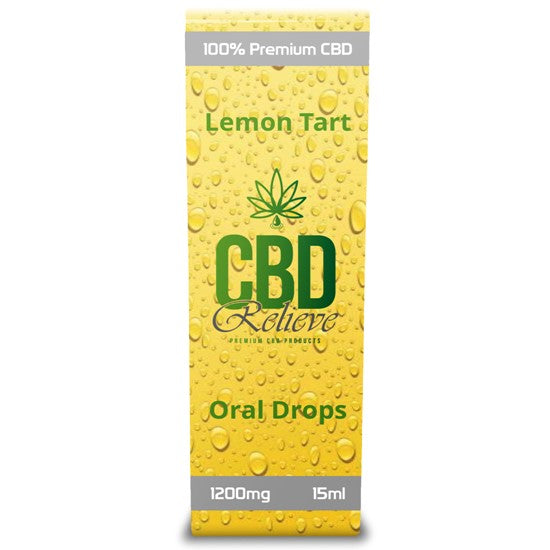 CBD Relieve 15ml Full Spectrum Oral Drops - Lemon Tart 1200mg
