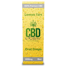 Load image into Gallery viewer, CBD Relieve 15ml Full Spectrum Oral Drops - Lemon Tart 1200mg