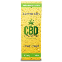 Load image into Gallery viewer, CBD Relieve | 15ml Full Spectrum Oral Drops - Lemon Tart 600mg