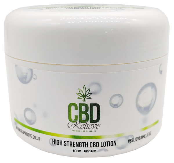 CBD Relieve 100g Body Lotion - 500mg