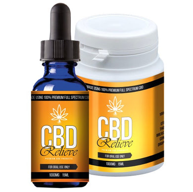 CBD Relieve | 15ml Full Spectrum CBD Oil Tincture - 1000mg