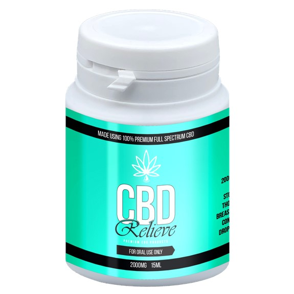 CBD Relieve | 15ml Full Spectrum CBD Oil Tincture - 2000mg