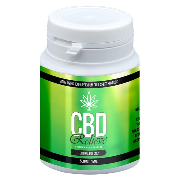 CBD Relieve | 15ml Full Spectrum CBD Oil Tincture - 500mg