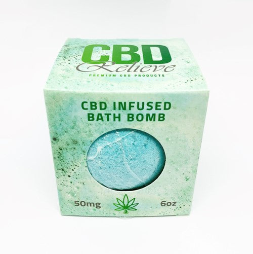CBD Relieve | 6oz CBD Infused Bath Bomb 50mg - RECOVER
