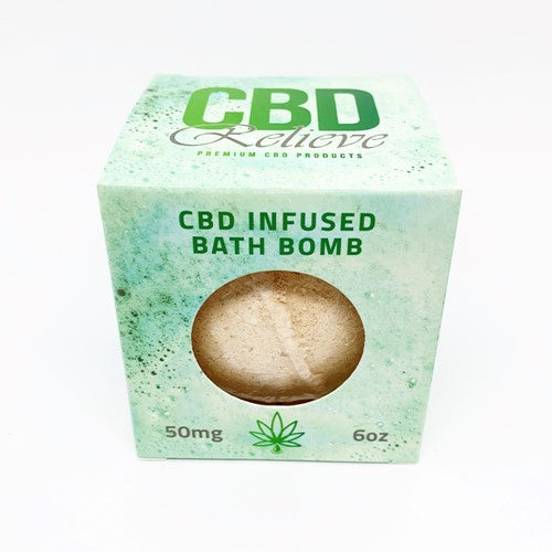 CBD Relieve 6oz CBD Infused Bath Bomb 50mg - RELAX