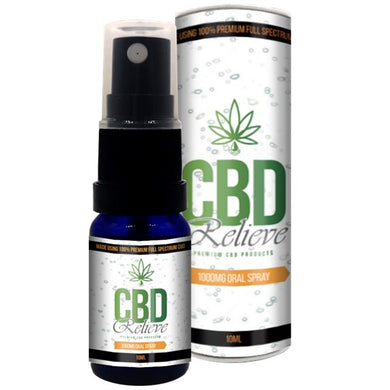 CBD Relieve 10ml Full Spectrum CBD Oil Spray - 1000mg