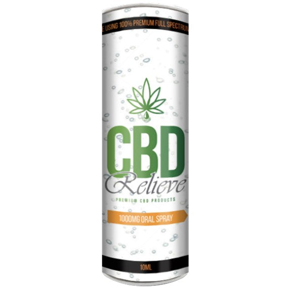 CBD Relieve | 10ml Full Spectrum CBD Oil Spray - 1000mg