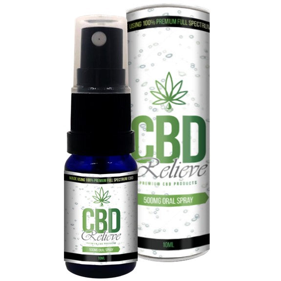 CBD Relieve 10ml Full Spectrum CBD Oil Spray - 500mg