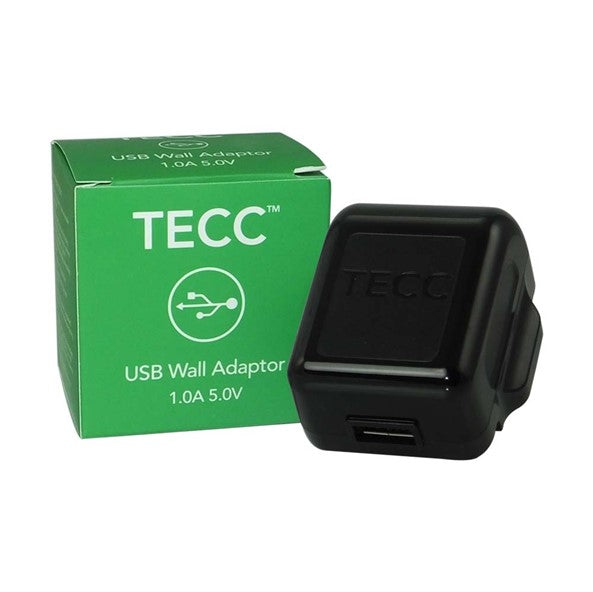 TECC 1.0A USB Mains Adaptor