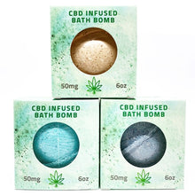 Load image into Gallery viewer, CBD Relieve | 6oz CBD Infused Bath Bomb 50mg - RECOVER