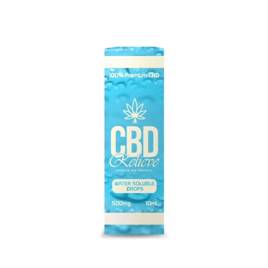 CBD Relieve | 10ml Water Soluble CBD Drops - 500mg