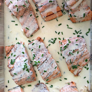 Grilled Salmon or Chicken Roulade