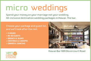Micro Wedding Cocktail Package